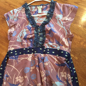 Anthropologie: odille silk top size 8